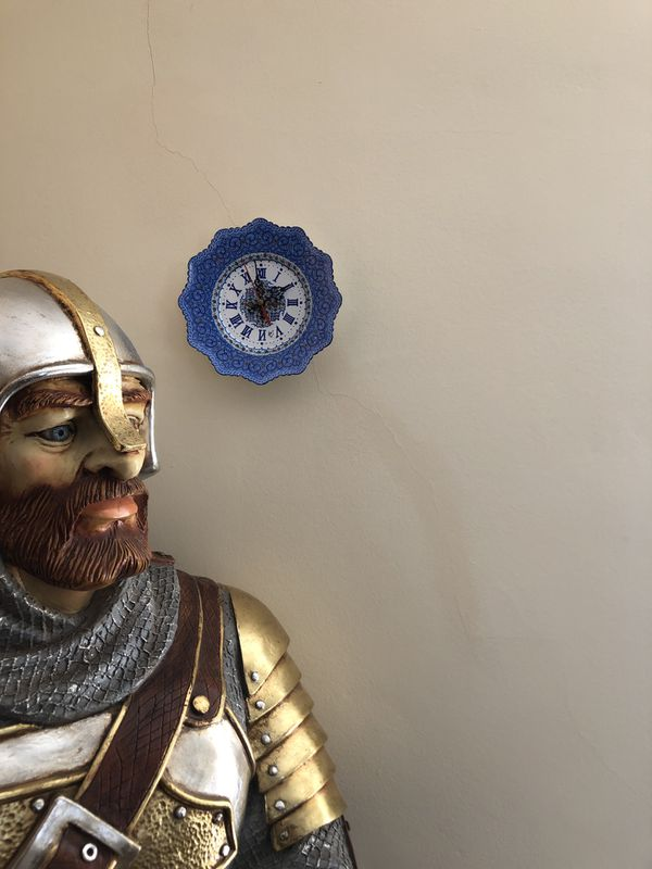 Handmade brass wall clock