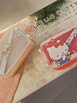 New Hello Kitty Lunchbox Double Layer With Chopsticks for Sale in Washington,  DC