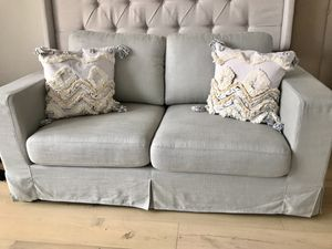 Stone and Beam sofa / couch light gray linen for Sale in Peoria, AZ