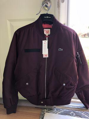 "Lacoste Live ""Le modern bomber"" Jacket Royal Burgundy (Size L) for Sale in Springfield, VA"
