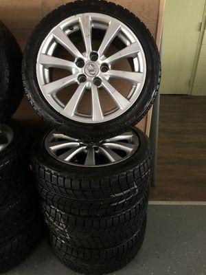 Lexus rims with 225/45 R17 Bridgestone Blizzak snow tires for Sale in Canton, MA