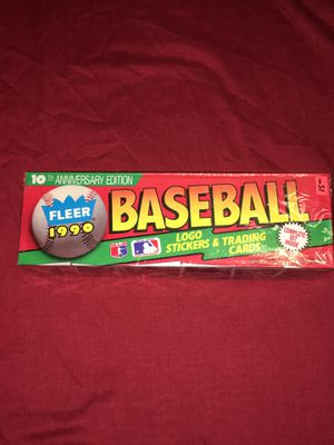 1990 Fleer factory sealed baseball card set for Sale in Collinsville, IL