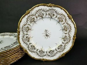 """Set of 6 COALPORT """" Kings Plate """" Bone China Dinner Plate 10 1/2"""" England 19.5.25 for Sale in Lake Worth, FL"""