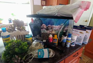 10 gal fish tank with all acessories for Sale in Levittown, NY