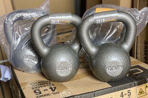 CAP 25lbs Cast Iron Kettlebells for Sale in El Camino Village, CA