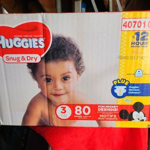 Huggies Size 3 80 Diapers in Total Trade For Enfamil 12.oz for Sale in Downey, CA