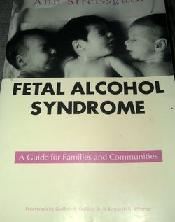 Gently Used Paperback Book : Fetal Alcohol Syndrome by Ann Streissguth for Sale in Pinellas Park,  FL