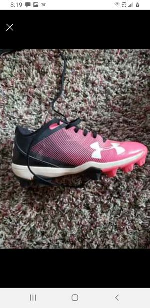 Girls sz 1 softball cleats for Sale in Morgantown, WV