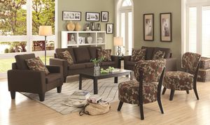 CHOCOLATE FABRIC LIVING SET for Sale in Hialeah, FL