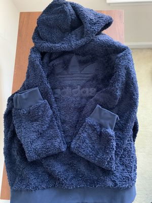 adidas Originals Winterized Sherpa P/O Hoodie Size Large for Sale in Lawrenceville, GA
