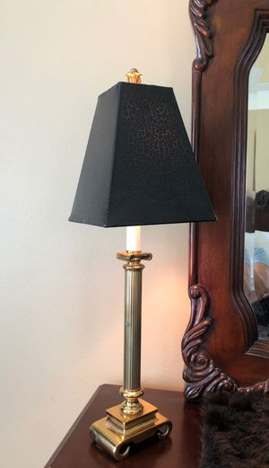 Beautiful black cheetah lamp shades on sharp gold clean vase for Sale in Katy, TX