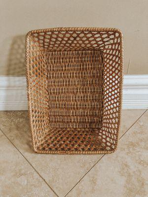 Vintage Handmade Woven Bohemian Wicker Basket for Sale in Aliso Viejo, CA