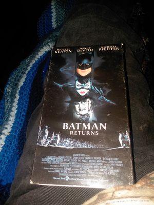 Batman Returns , VHS movie, plays great for Sale in Shellsburg, IA
