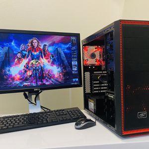 "NEW Gaming PC 8 Core I7 @2,67GHz, 4Displays. GPU NVidia GTX 660, 256G SSD/1T HDD,12 GB RAM, 8 USB Ports/WIFI, 650W PSU, 23"" Monit/Keyb/Mou, Win10Pro for Sale in Fort Lauderdale, FL"