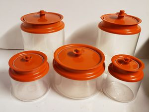 Lot of Tupperware Storage Containers with Orange Lids for Sale in Sanatoga, PA