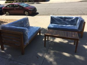 Set 2 Lounges, couches & Table Acacia Wood Brand New for Sale in Walnut, CA