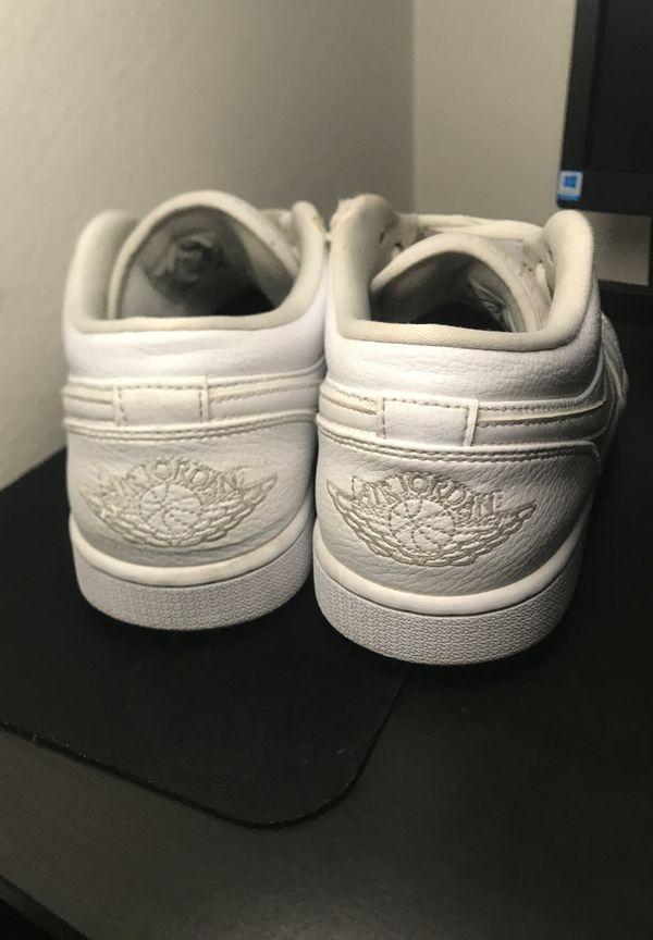 Air Jordan 1 low all white