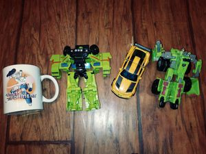 Transformers set of 3 and collectible mug for Sale in Lakeport, CA