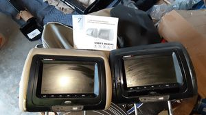 Vision L.E.D. Headrest screens w/dvd players built in w/remotes for Sale in LAKE TAPWINGO, MO