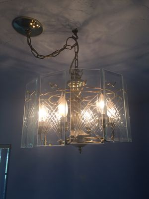 Brass and glass chandelier for Sale in Lake Worth, FL