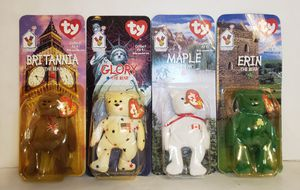 TY Beanie Babies Plush Toy International Bears All 4 Set 1999 New! for Sale in St. Petersburg, FL