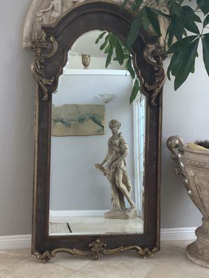 """74""""x34"""" Antique, over 90 years old full length mirror, absolutely unique and beautiful with lots of detail.there is nothing like it and they don't ma for Sale in Laguna Niguel, CA"""