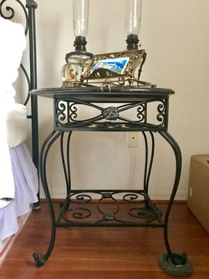 Marble and metal table for Sale in Miami, FL