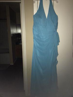 David's Bridal Malibu Blue Halter Bridesmaid/Prom Dress 18/20 woman for Sale in Conyers, GA