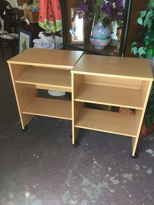 Denmark rolling end or side tables with shelf. Perfect condition$45each. Open Friday 10-4 cash for Sale in Sebring, FL