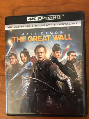 Ultra HD dvd - The Great Wall for Sale in Ladera Ranch, CA