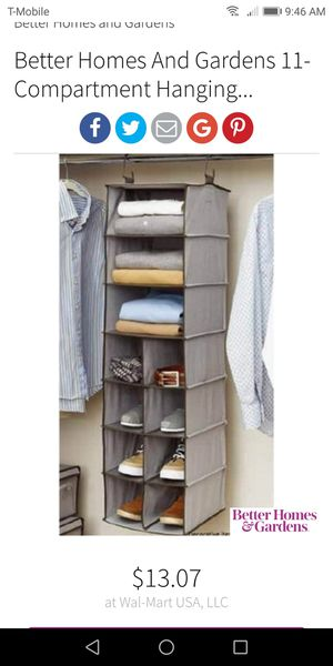 11 compartment closet organizer (12*12*44) for Sale in Temple City, CA