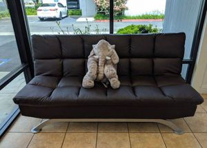 "Black or Dark Brown PU Futon Sofa Bed - 72.5"" x 36"" x 36.25"" for Sale in Chino, CA"