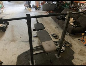 Golds gym workout bench. No tears. 145.00 for Sale in College Park, GA