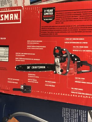 20 inch craftsman chainsaw for Sale in Lowell, MA