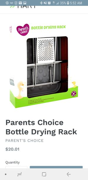 Parents choice stainless steel bottle drying rack for Sale in Huntington Park, CA