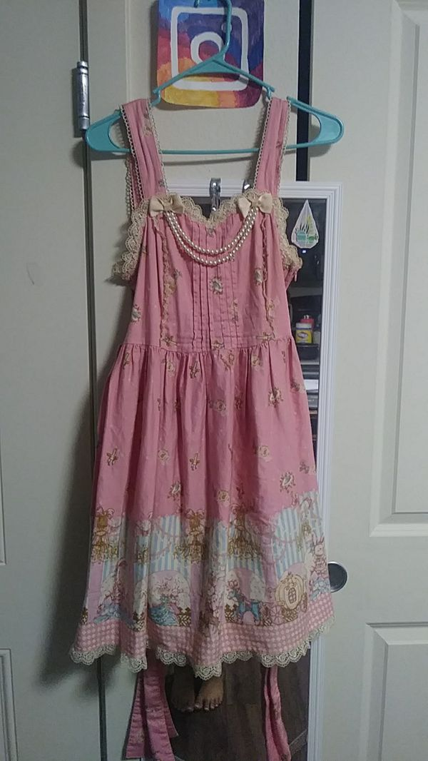 Bunny Cinderella Fairy Tale Lolita Dress Pink Adult Size ...