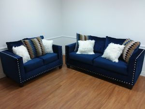 BLUE 2PC SOFA AND LOVESEAT SET for Sale in Arlington, TX