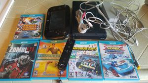Nintendo wii u system with 5 games for Sale in Fresno, CA