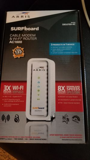 Modem and wifi router for Sale in San Diego, CA