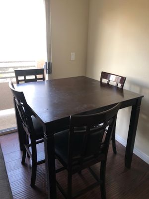 Dining Table Set with 4 Cushioned Chairs for Sale in Los Angeles, CA