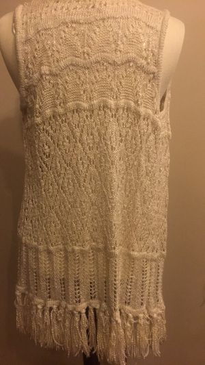 Fringe knitted sweater vest size L for Sale in Washington, DC