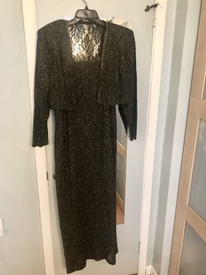 Blk/Gold Evening Knit 2pc Dress Set, 14W for Sale in Miami, FL