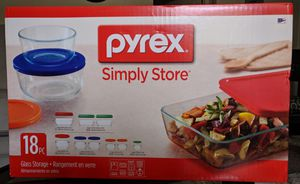 Pyrex 18 piece glass storage set for Sale in Carlsbad, CA