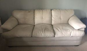 Leather Pull Out Couch for Sale in Wake Forest, NC