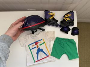 American Girl doll roller blade outfit & accessories for Sale in Irvine, CA