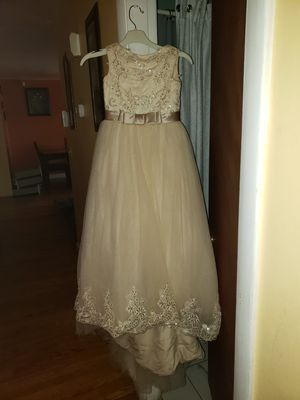 Flower girl dress for 7-9 year old for Sale in Stoughton, MA