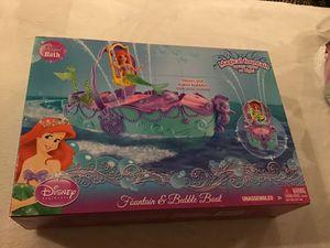 Princess Ariel water fountain & bubble boat $8 obo for Sale in Corona, CA