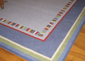 """Potter barn rug (8"""" by 10"""") %100 wool for Sale in Foster City, CA"""