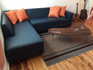 Modern Navy Blue sectional sofa couch NEW ANY COLOR for Sale in Hialeah, FL