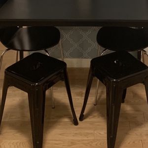 2 Black Metal Stools for Sale in New York, NY